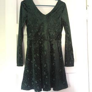 Velvet stained glass dress